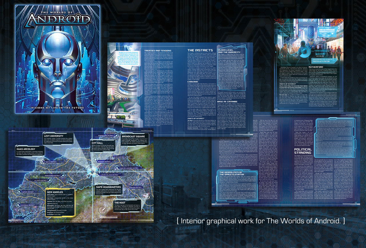 The Worlds of Android IP book cover and interior
