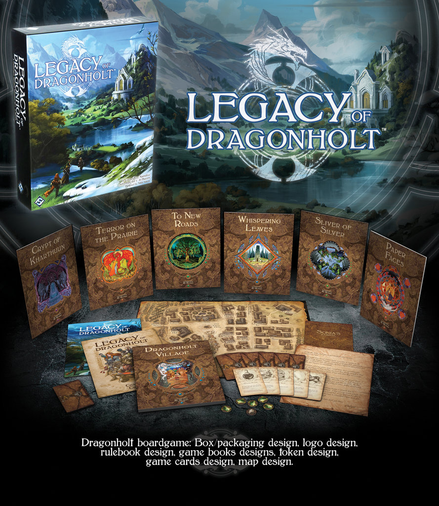 Legacy of Dragonholt tabletop game
