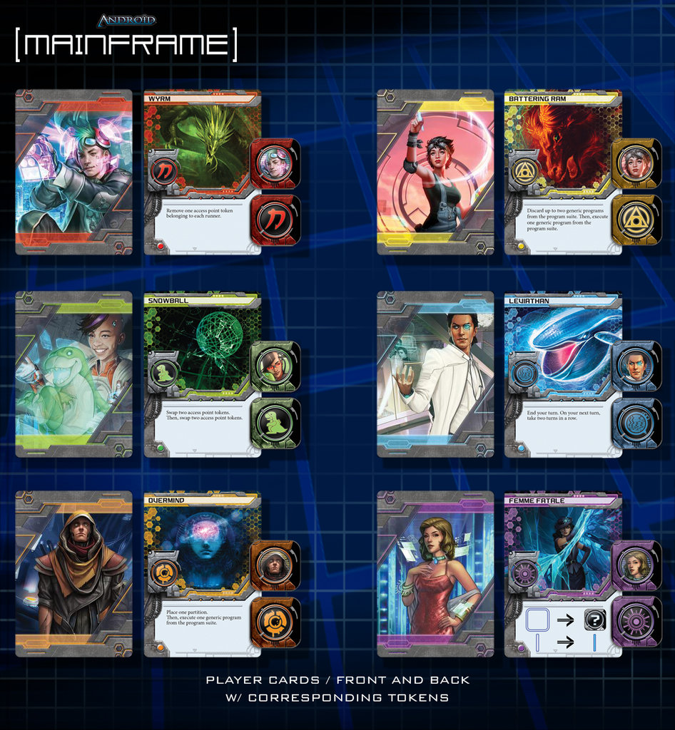 Android: Mainframe player cards